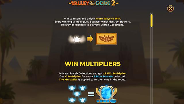 Valley of the Gods 2 Slot Bonus Features