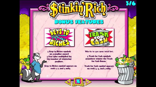 Stinkin' Rich Slot Bonus Features