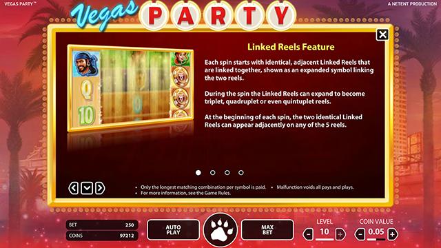 Vegas Party Slot Features