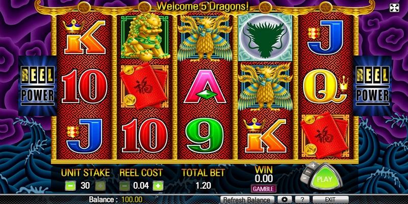 5 Dragons Slot Reels
